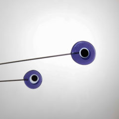 """Purple Moonlight"" Sculptural Glass Mobile"