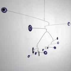 """Purple Moonlight"" Sculptural Glass Mobile"