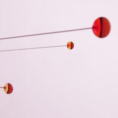 """""""Fireball Sunsets""""  Sculptural Glass Mobile"""