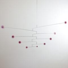 """Rose Pink"" Sculptural Glass Mobile"
