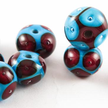 Murano glass beads made at Graham Reid Design